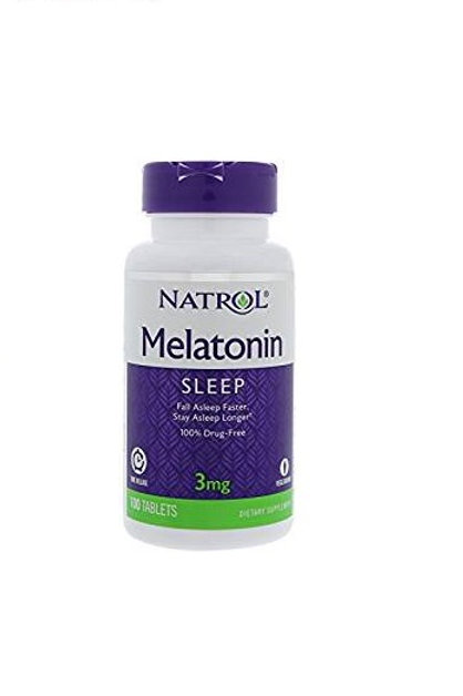 Natrol Melatonina Time Release de 3mg com 100 tabletes