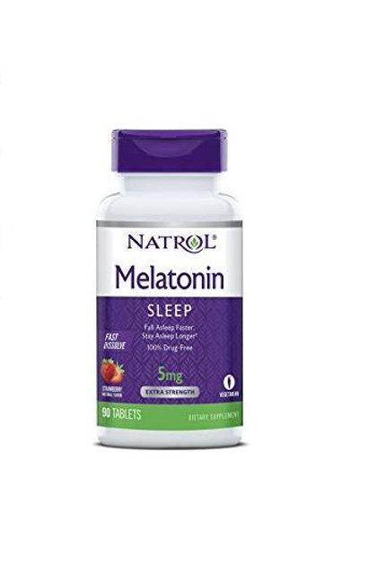 Natrol Melatonina Fast Dissolve de 5mg com 90 tabletes