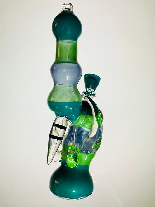 Heady Blue and Green Bubbler