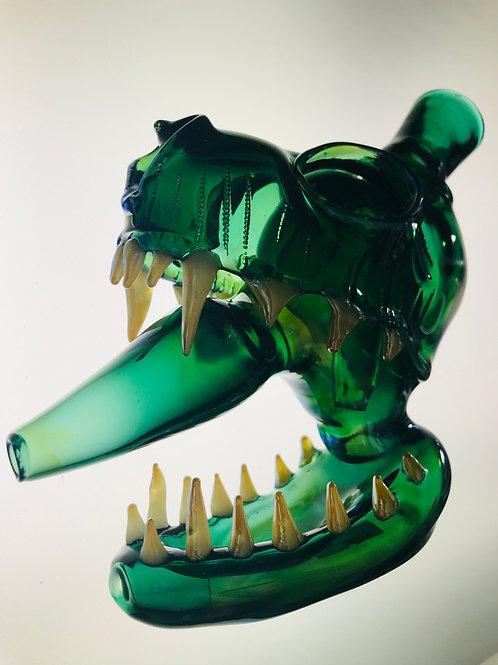 Green Dino Bong