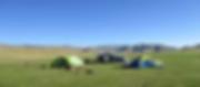 草原宿泊、馬で移動するツアー