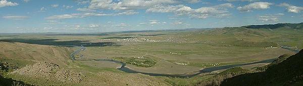 原始人発生拠点地のオルホン川