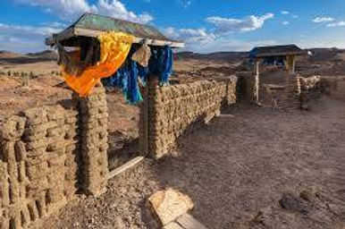 中部ゴビのパワースポットのオンギーン寺院の遺跡
