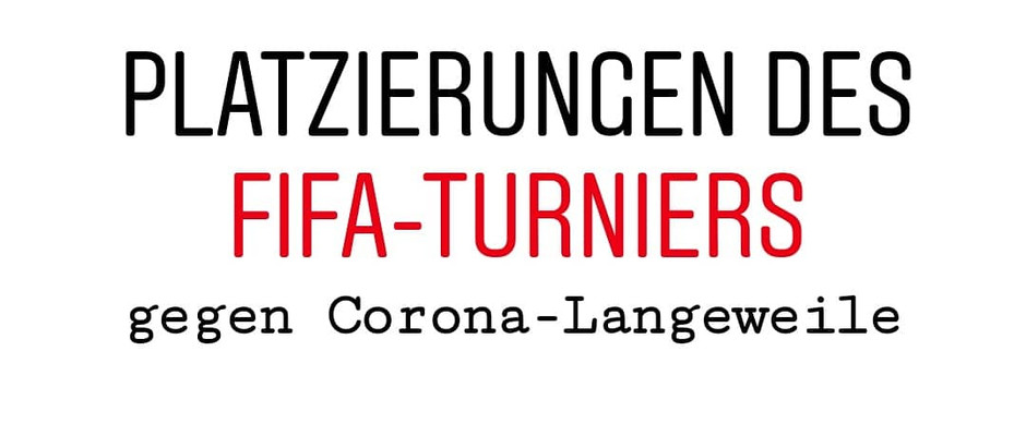 FIFA-Turnier gegen Corona-Langeweile