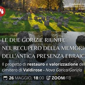 Italia e Slovenia riunite nel segno di Gorizia/Nova Goriça. Memoria e futuro della cultura ebraica