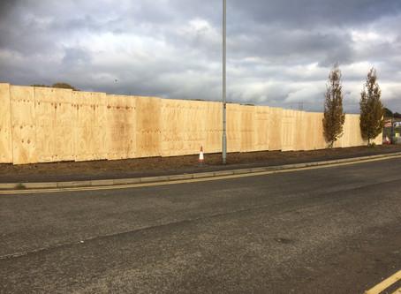 Wooden Hoarding for Dibond Boards