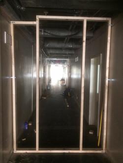 Hoarding frame ready for door