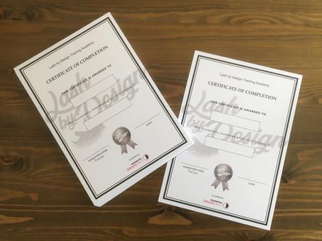 A4 certificates - custom printed certificates