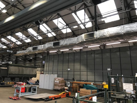 Large galvanised steel ductwork