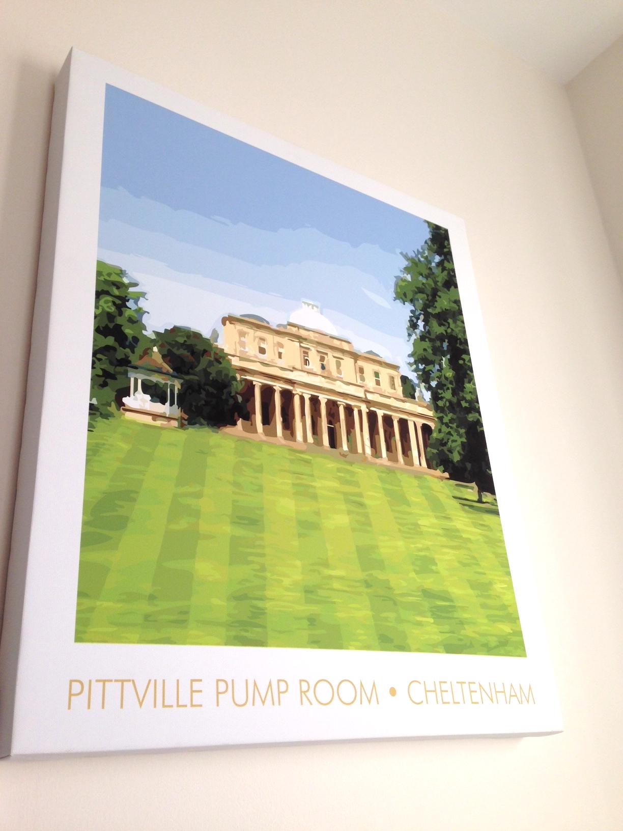 Pittville Pump Room, canvas print