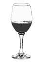 an illustration of a glass of wine.
