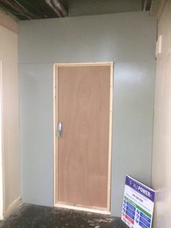Hoarding fire exit