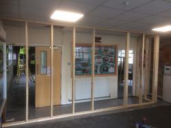 Floor to ceiling framework