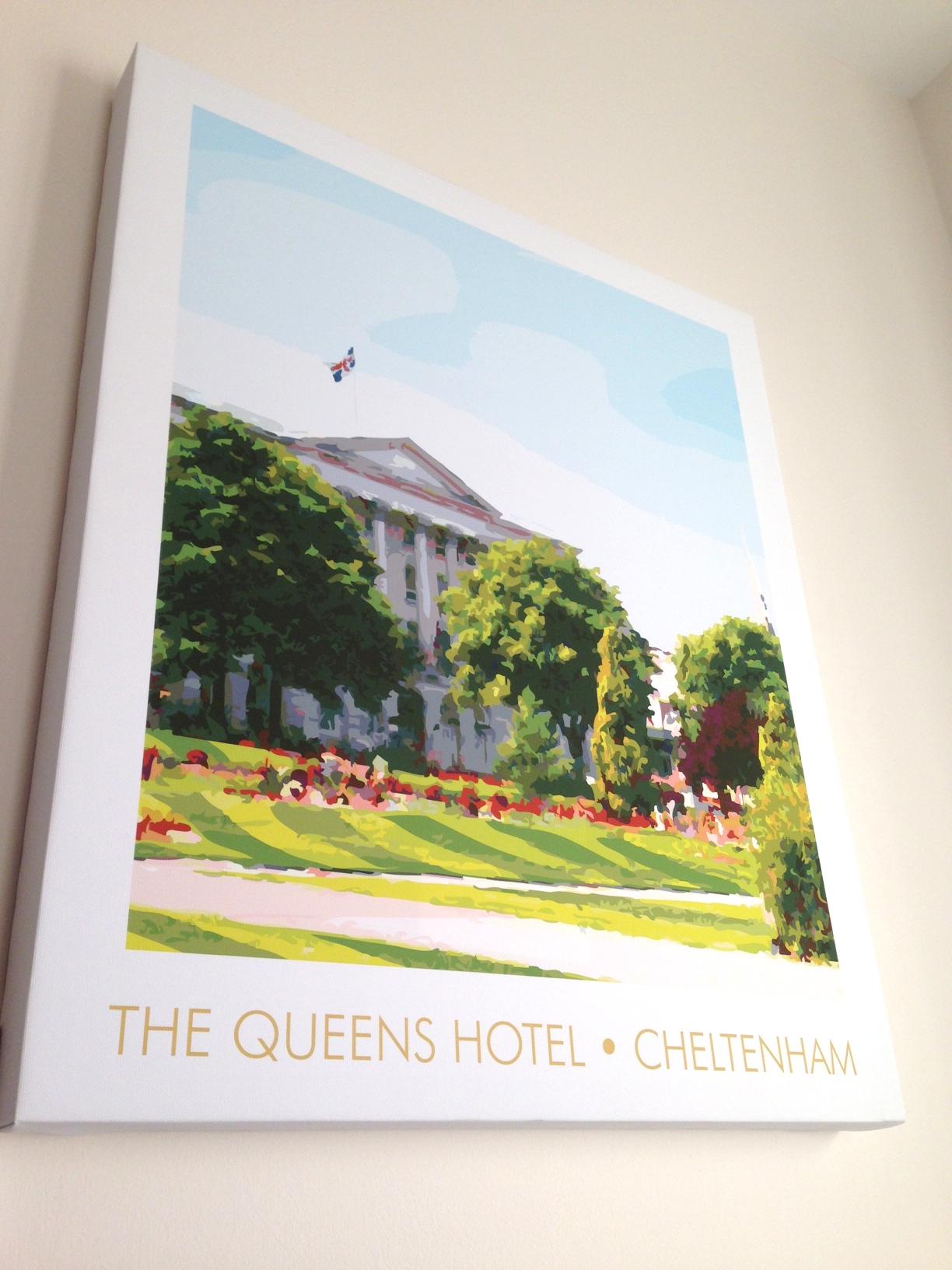 The Queens Hotel, Cheltenham canvas