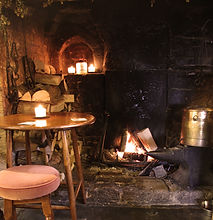 The fireplace is in the oldest part of the pub