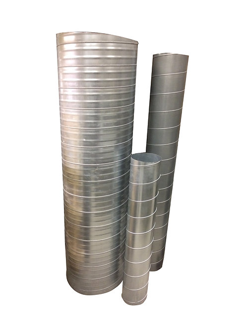 100mm Spiral Ducting - 3000mm Length