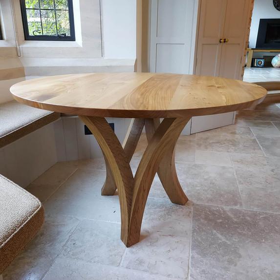 Oak Table - Elm Top
