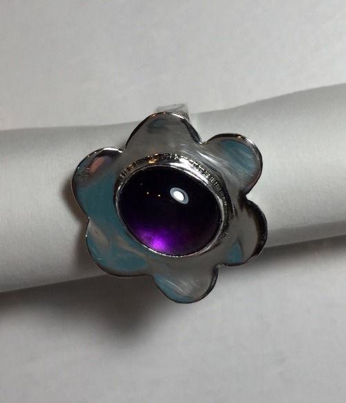 amethyst petal ring