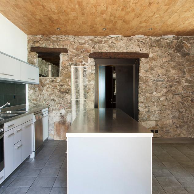 Küche des Caveau des Langins