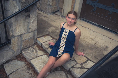 Female Senior -  Stair Pose