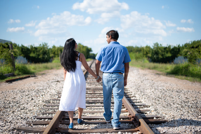 Couple - Train Tracks