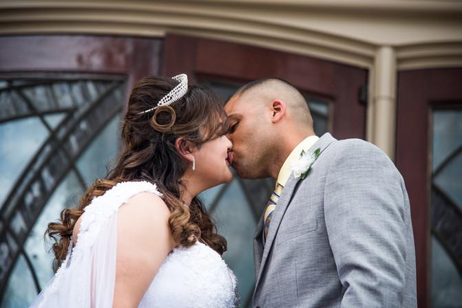Wedding - Bride and Groom Kiss
