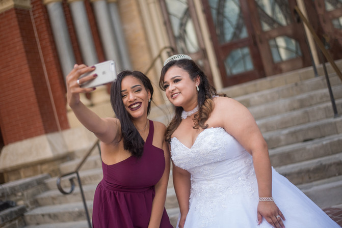 Wedding - Bride and Best Friend