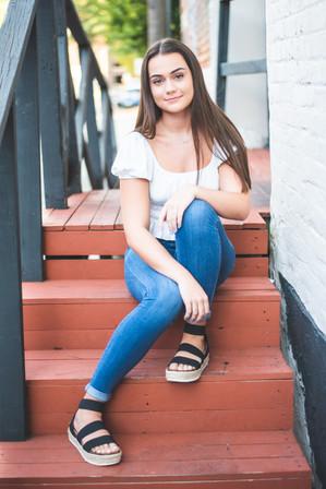 Senior - Girl Stairs