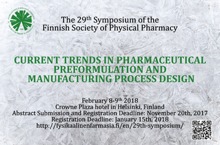 29th Symposium of Finnish Society of Physical Pharmacy