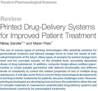 Printed drug-delivery systems for better treatments?