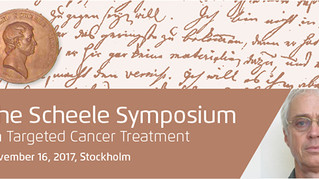 Scheele Award Laureate Hailed by World Authorities in Stockholm