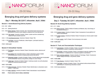 NanoForum 2017: Emerging drug and gene delivery systems
