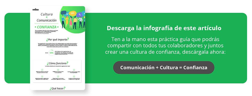 Descarga la infografía: Comunicación + Cultura = Confianza
