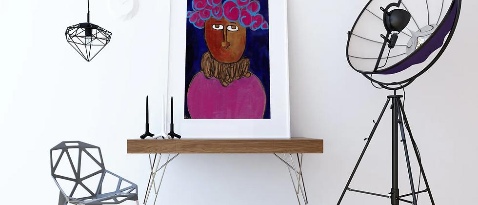 Untitled (Purple Curls) x Barbåro Mirelys Reyes Mesa