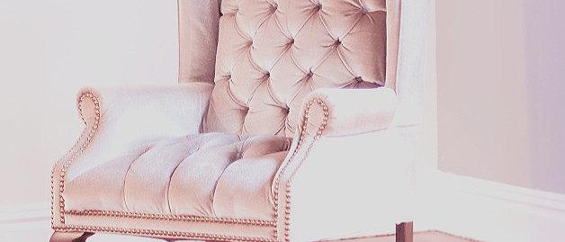 Lilac Velvet Tufted Captain's Chair