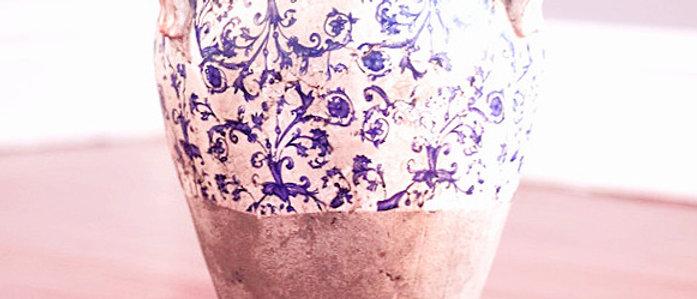 Rough Floral Neck Amphora