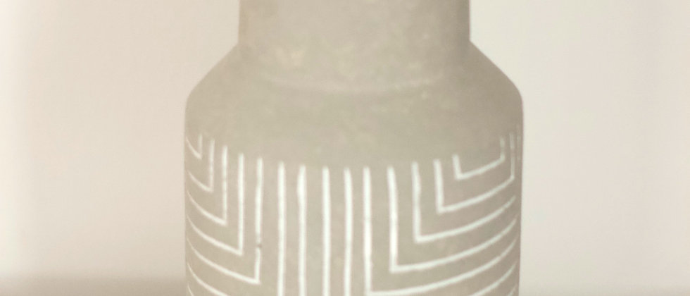 Clay Colored Geometric Pattern Vase