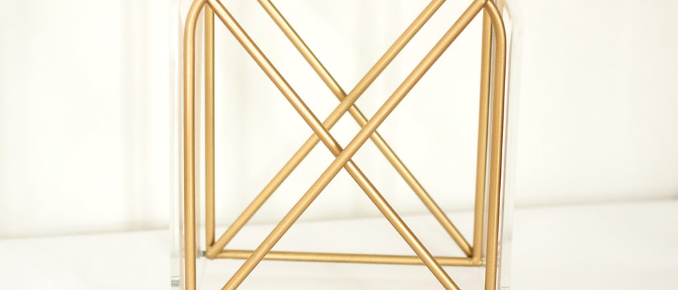 Gold Trim Side Table