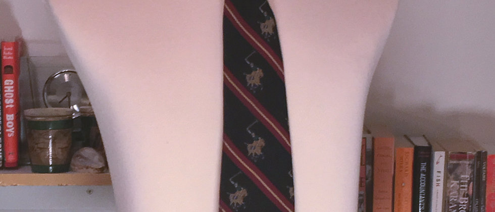Navy Polo   Red Angle Striped Kipper