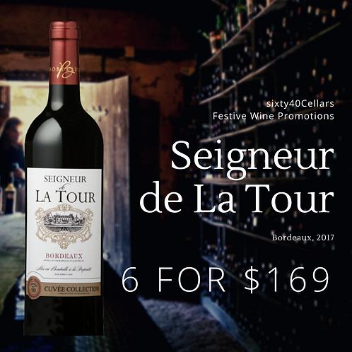 Seigneur de La Tour, Cuvée Collection Bordeaux, 2017 (Set of 6)