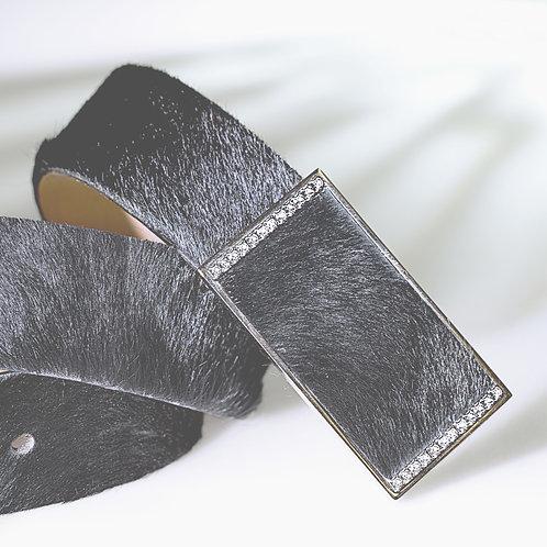 Formgürtel BAMBI mit Swarovski Kristallen Fell schwarz