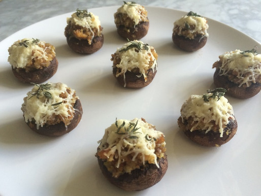 Sausage and Fennel Stuffed Mushrooms