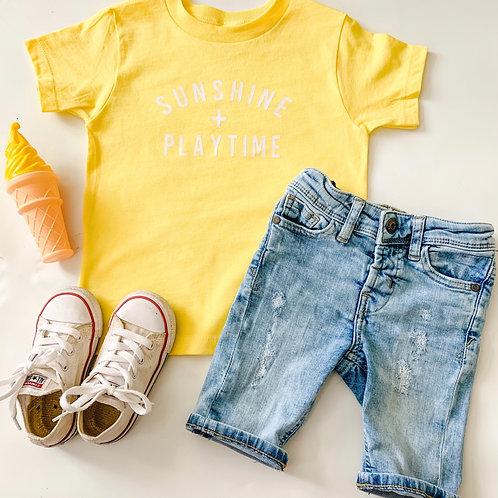 Sunshine + Playtime Kids Tee
