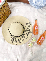 Summer isn't over yet! DIY Personalized Straw Hat Tutorial