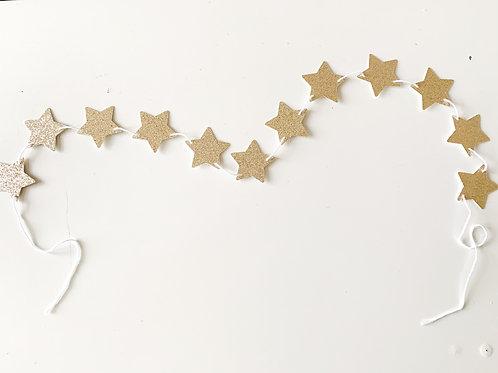 Golden Star Garland Shelfie Size