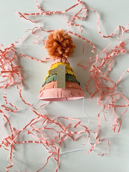 Fringe Mini Party Hat in Boho Garden