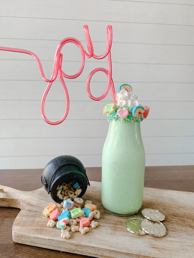 Hearts, Stars, and Horseshoes...Lucky Charms Milkshake!