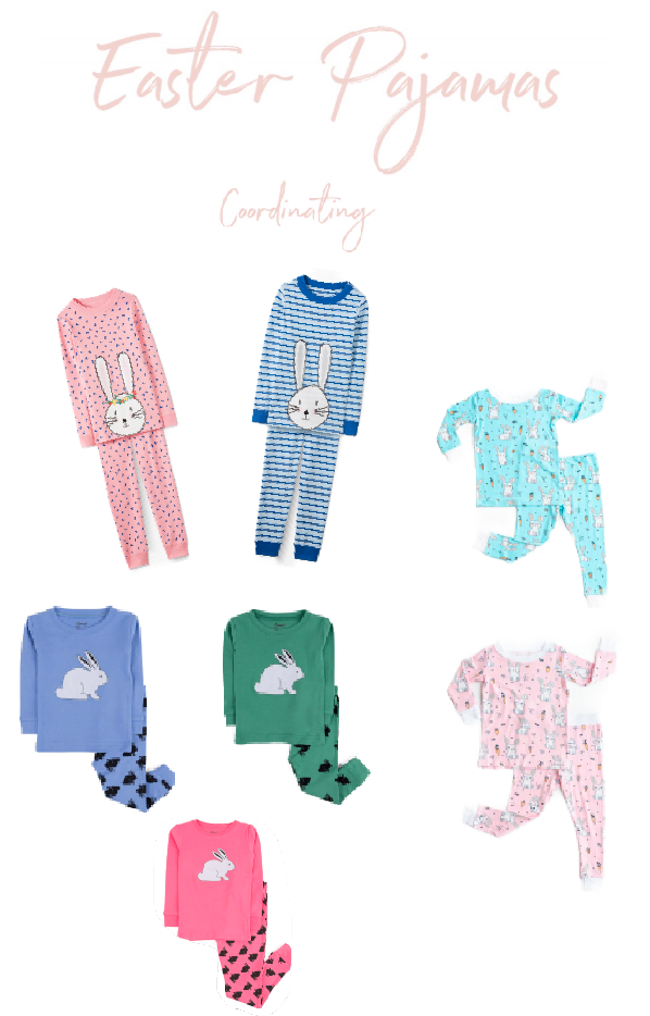 Stay Home this Easter and wear Festive Jammies! Easter Pajama Round Up