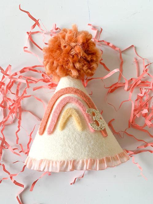 Rainbow Sherbet Mini Party Hat