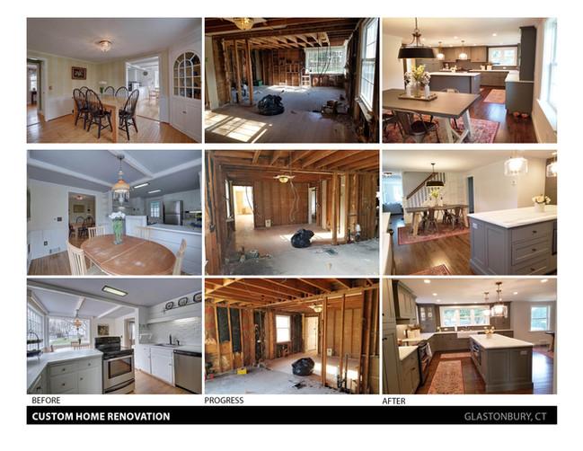 Custom Home Renovation - Glastonbury, CT (BEFORE & AFTER)